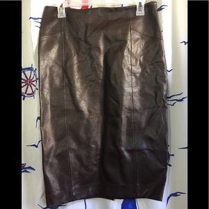 Zara Faux Leather Skirt Sz M